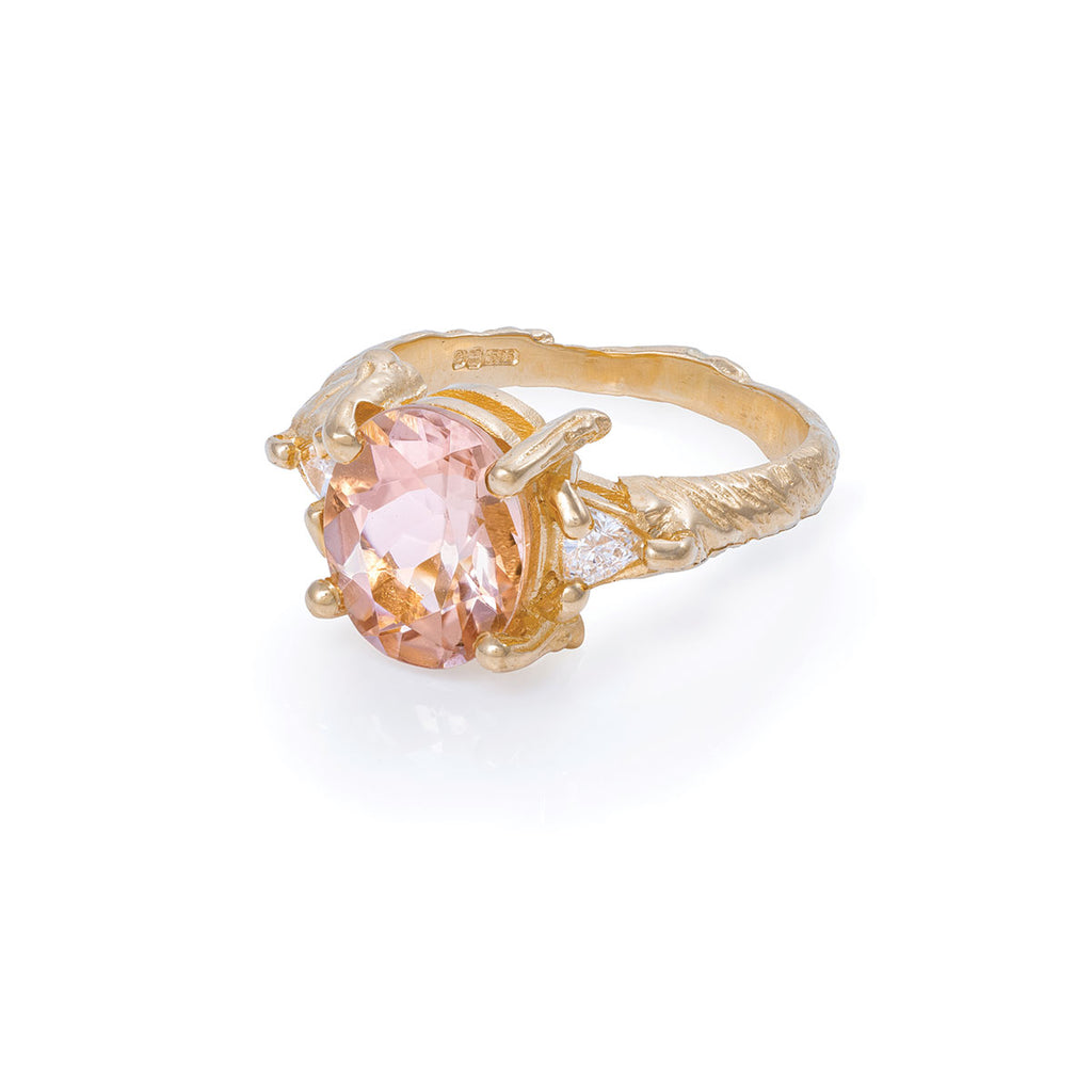 Chupi - Morganite & Classic Diamond Engagement Ring - One in a Trillion
