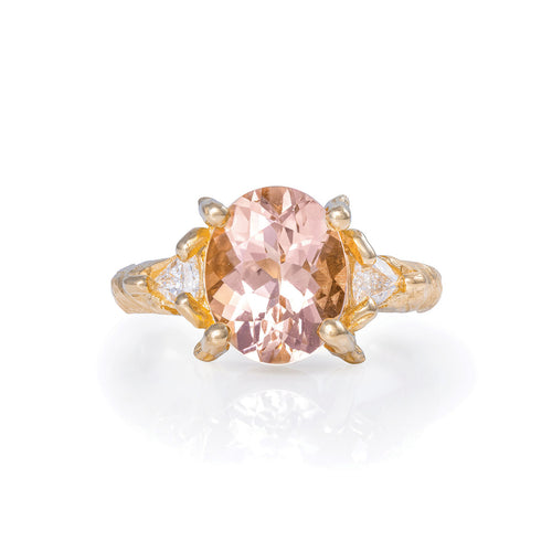 image of Solid Gold One In A Trillion - Morganite & Diamond Ring
