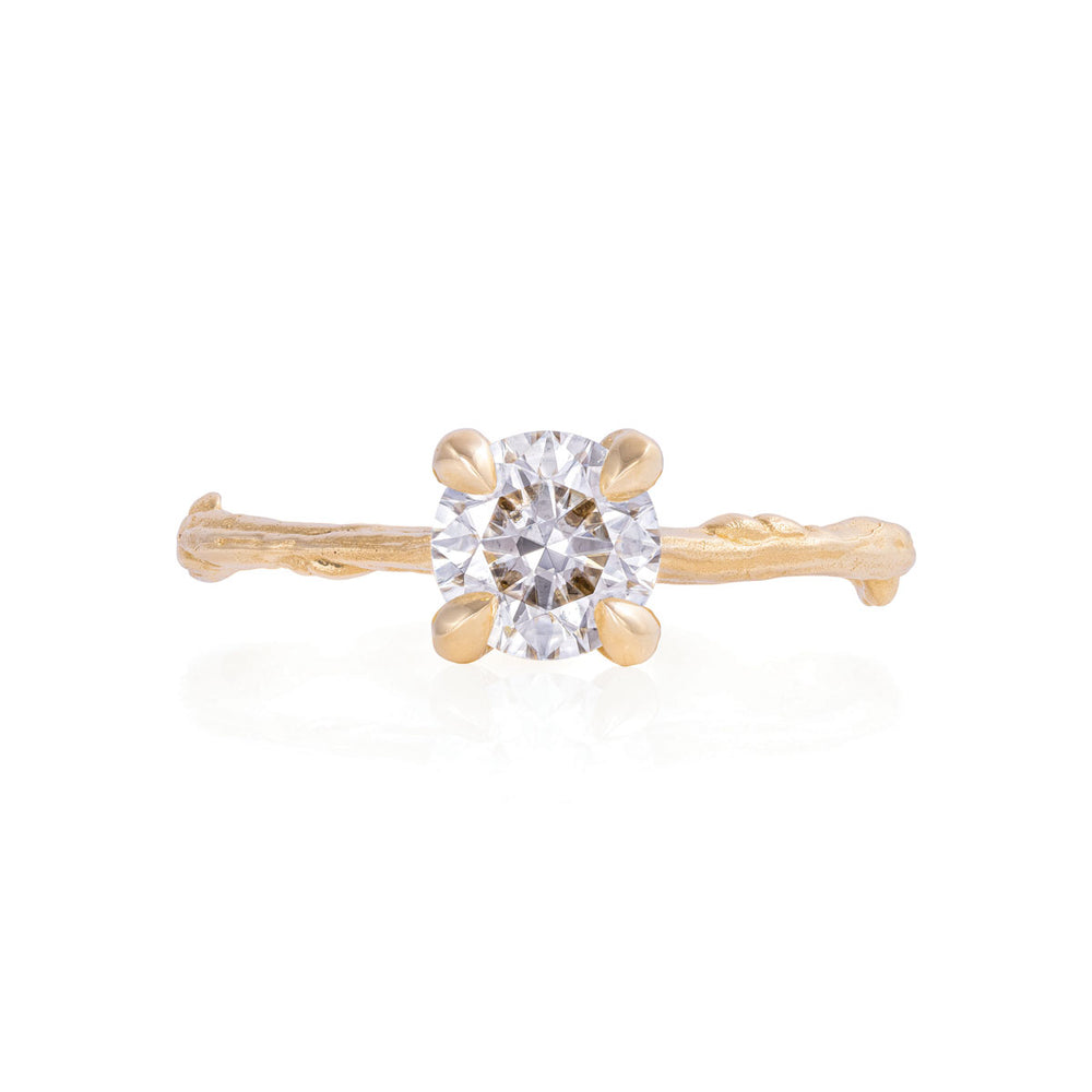 Solid Gold Sparkle in the Wild - One Carat Classic Diamond Ring