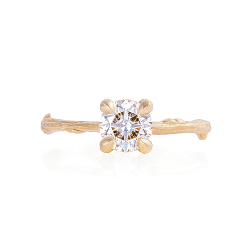 image of Solid Gold Sparkle in the Wild - One Carat Lab Grown Diamond Ring