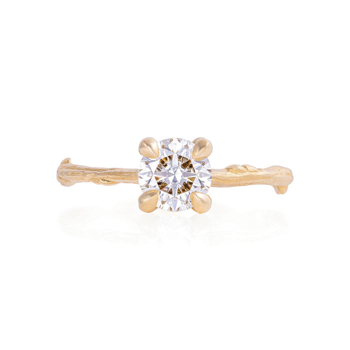 Solid Gold Sparkle in the Wild - One Carat Lab Grown Diamond Ring