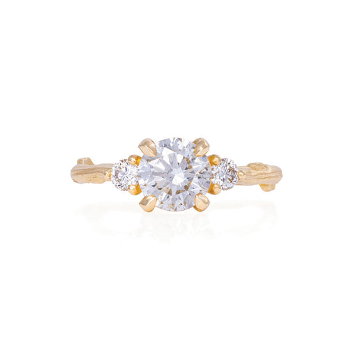 image of Solid Gold You Me & Magic - One Carat Classic Diamond Ring