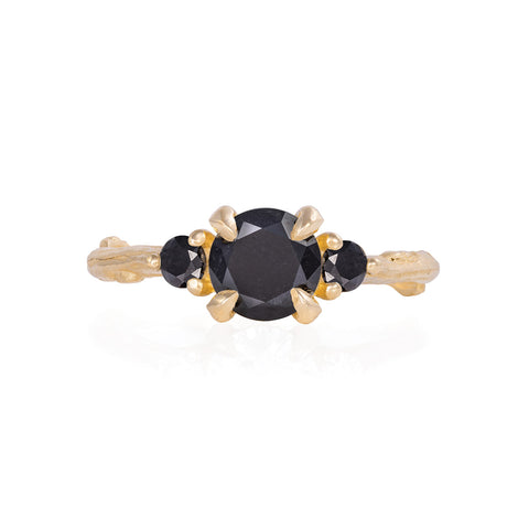 Solid Gold You Me & Magic - One Carat Black Diamond Ring