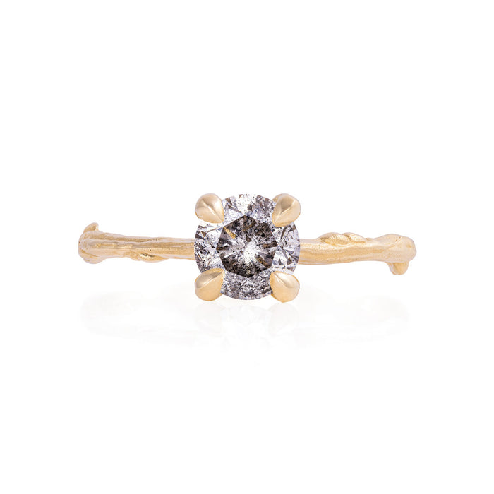 Solid Gold Sparkle In The Wild - One Carat Grey Diamond Ring
