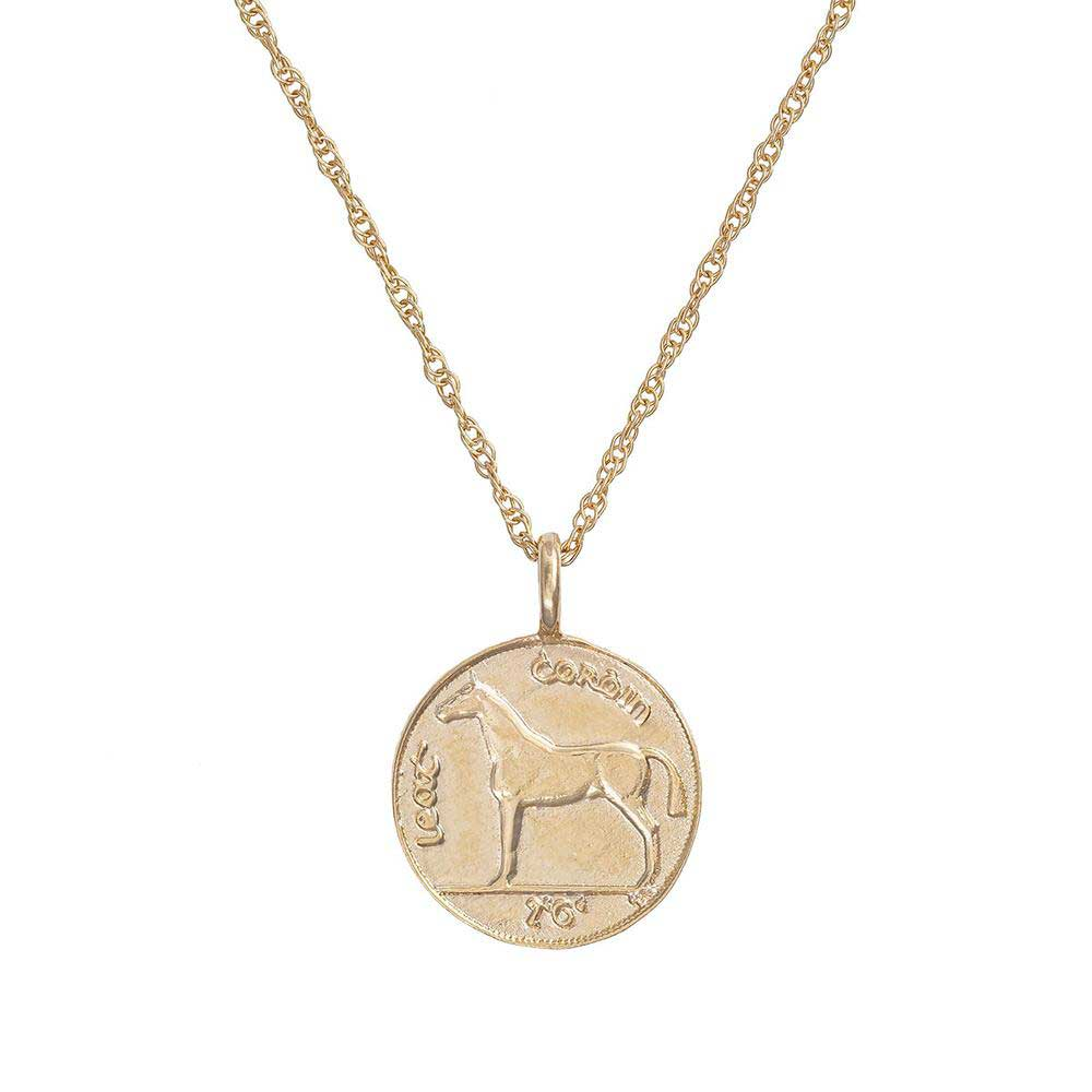 Chupi - Coin Necklace 1928 Horse - Worth Your Weight in Gold - Solid Gold Necklace