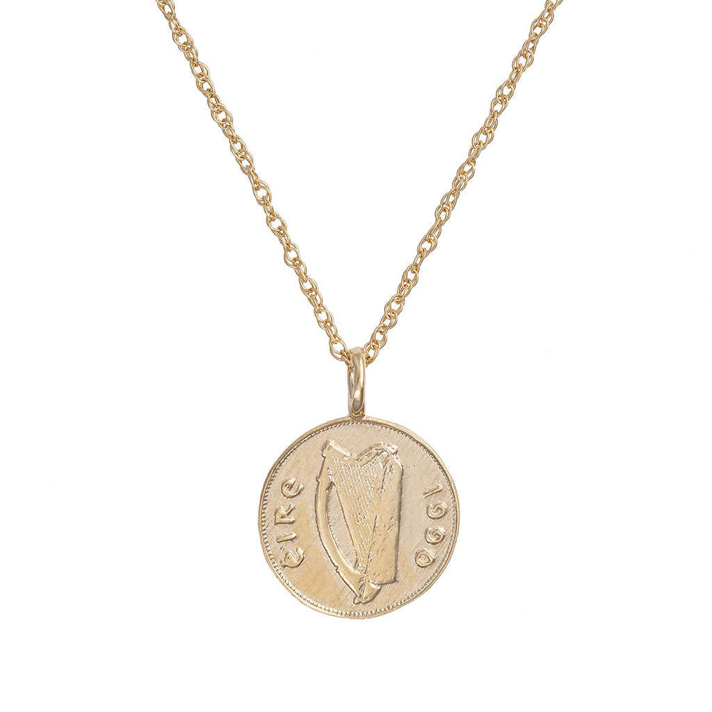 image-Solid Gold Worth Your Weight in Gold 1990 Stag Coin Necklace