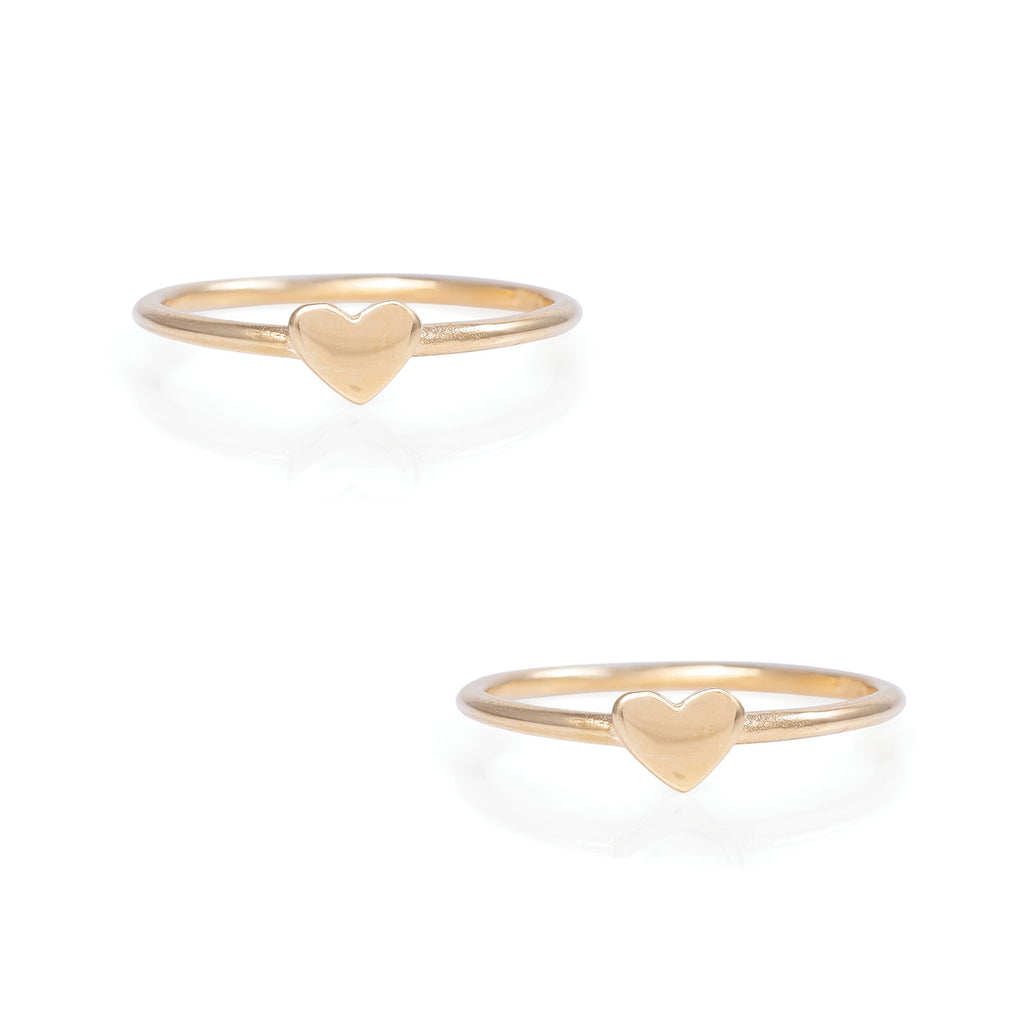 image-Solid Gold You Are My Heart Ring Matching Set
