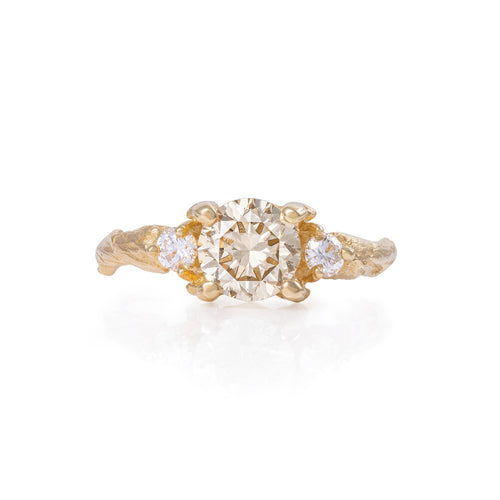 image of Solid Gold You Me & Magic - One Carat Champagne Diamond Ring