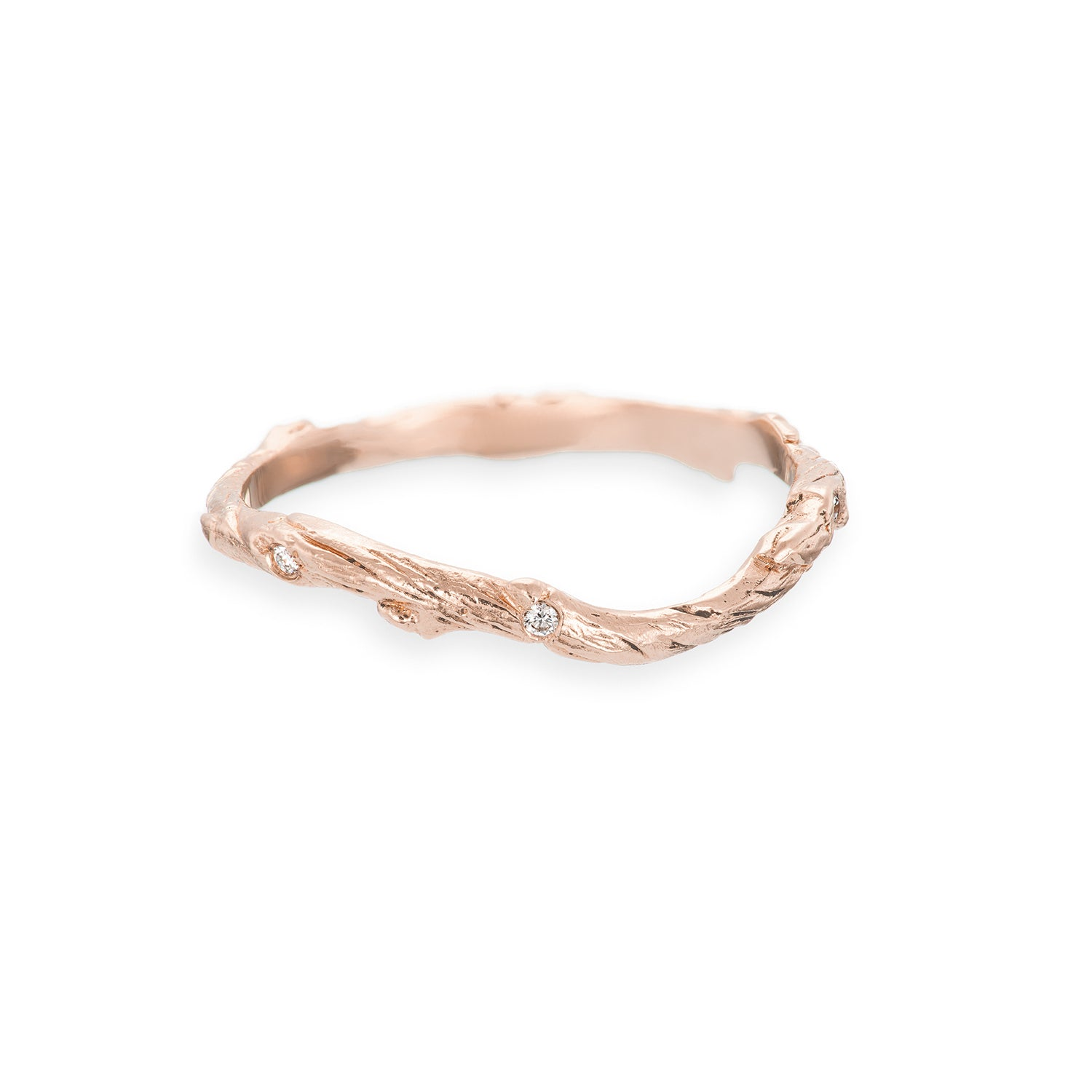 band chupi classic ring bands rose twig gold hawthorn products with diamond solid infinity