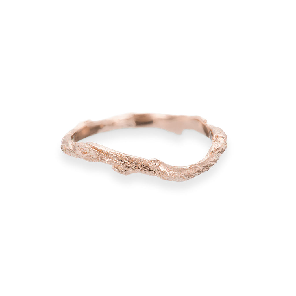 image-Solid Rose Gold Hawthorn Twig Infinity 14k Ring
