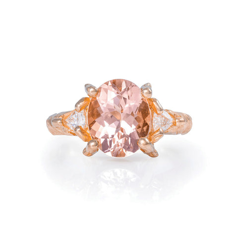 Solid Rose Gold One In A Trillion - Morganite & Diamond Ring