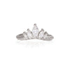 Crown of Hope - 14k White Gold Twig Band Marquise Diamond Ring