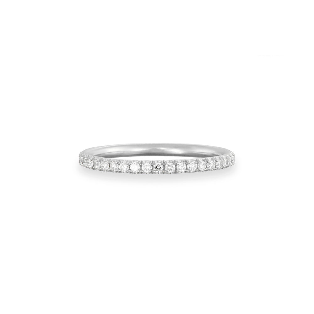 Solid White Gold Eternity is Too Short Classic Diamond Ring