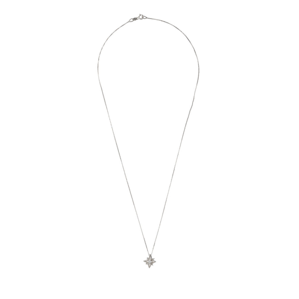 image-Solid White Gold I'd Be Lost Without You Necklace
