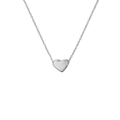 Solid White Gold You Are My Heart Necklace