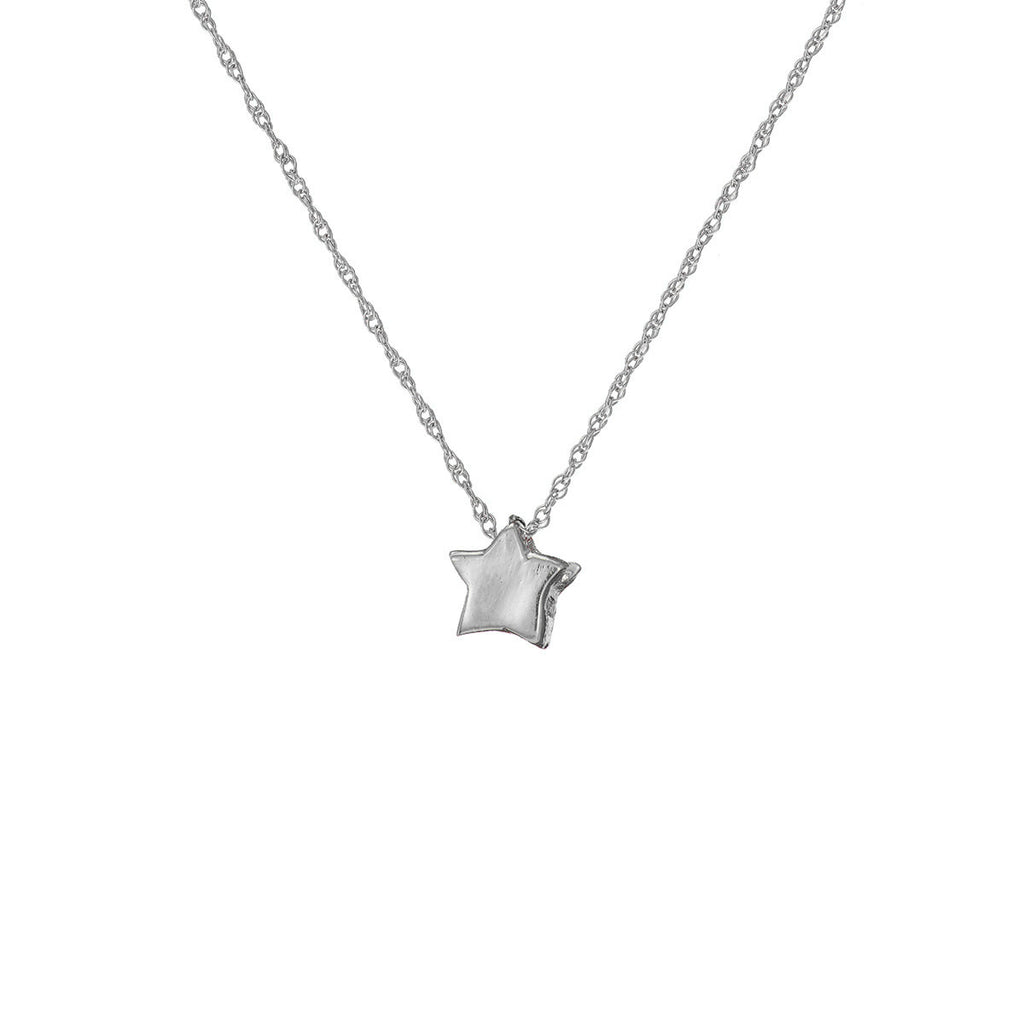 Chupi - Star Necklace - Solid White Gold You Are My Star