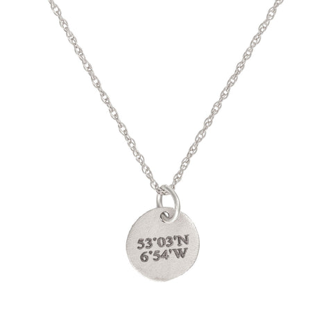 Chupi - Coordinates Midi Disc Necklace - Solid White Gold - Not All Those Who Wander Are Lost