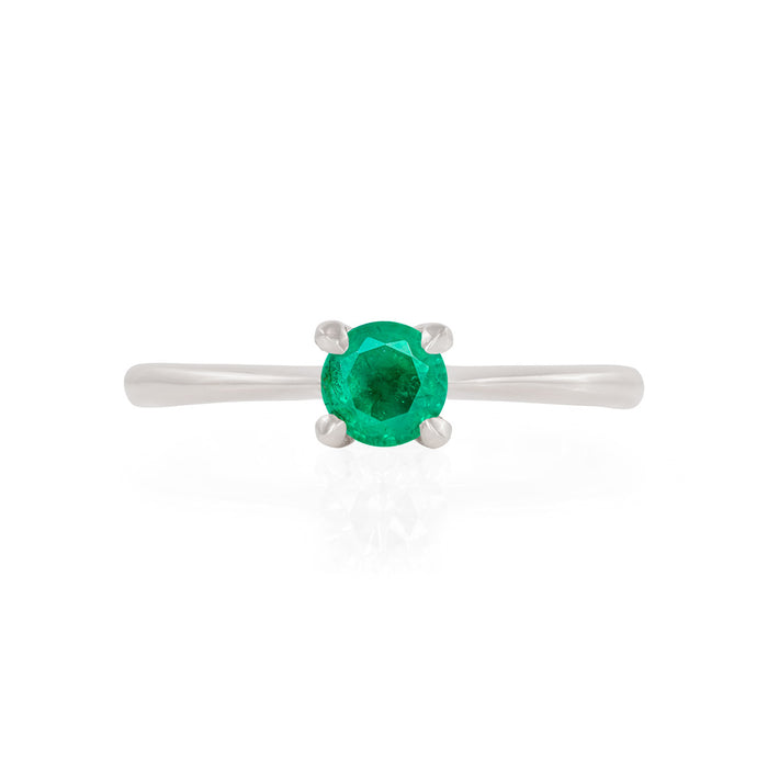 Darling in the Wild - 14k Polished White Gold Emerald Ring
