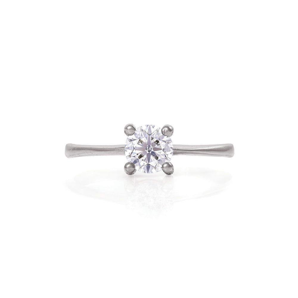 Darling in the Wild - 14k White Gold Polished Gold Lab-Grown Diamond Ring