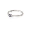 Solid White Gold Dreamers of Dreams - Grey Diamond & Classic Diamond Polished Band Ring