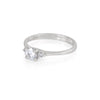 On-body shot of Love is All - 14k Polished White Gold Moissanite & Diamond Ring