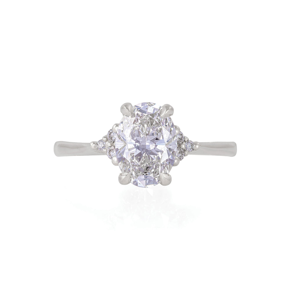 Starlight - 14k Polished White Gold Lab-Grown Diamond Ring