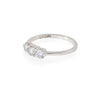 Stars in the Sky - 14k Polished White Gold Three Diamond Eternity Ring