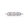 Solid White Gold Stars in the Sky Eternity - Classic 4 Diamond Polished Band Ring