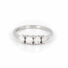 Stars in the Sky - 14k Polished White Gold Four Diamond Eternity Ring - Video cover