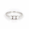 Stars in the Sky - 14k Polished White Gold Three Diamond Eternity Ring - Video cover