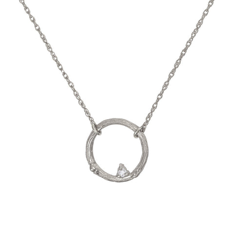 Chupi - Classic Diamond Promise Me Necklace - Solid White Gold