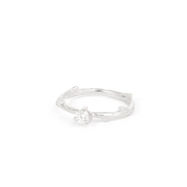 Solid White Gold Promise Me - Classic Diamond Ring