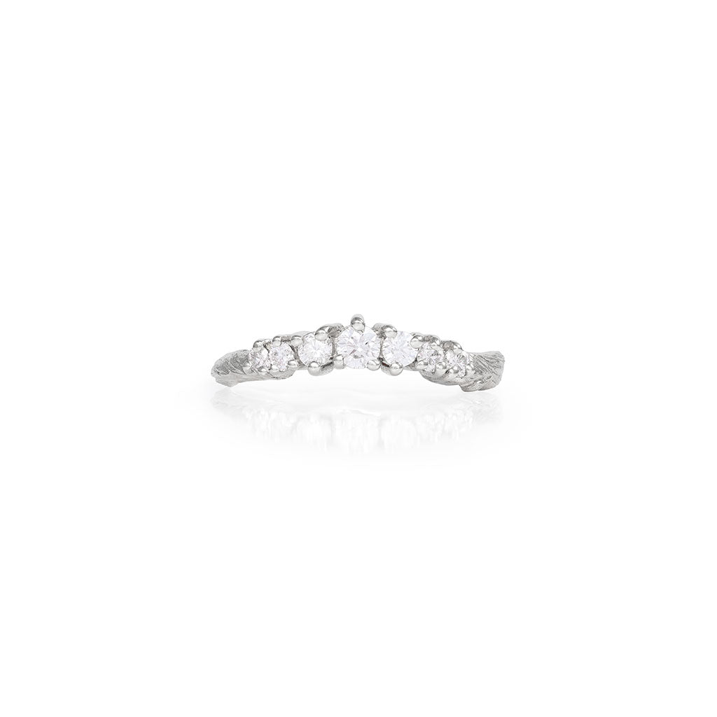 image-Solid White Gold Crown of Joy Ring Classic Diamond