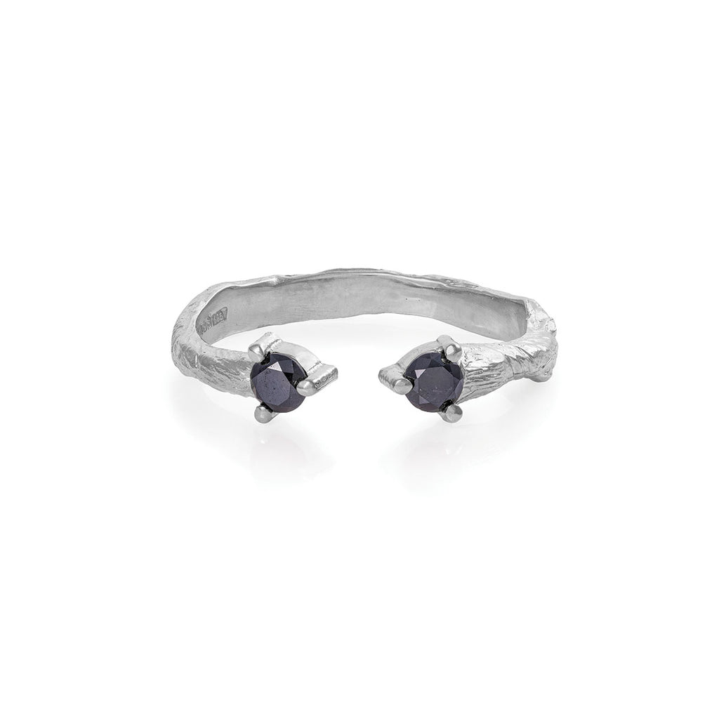 Chupi - Black Diamond Ring - Hope & Magic Solid White Gold