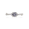 Love is All - 14k White Gold Twig Band Grey Diamond Ring