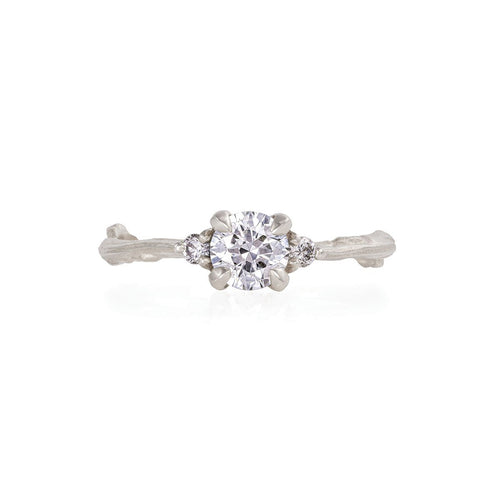 image of Solid White Gold Love is All - Classic Diamond Ring