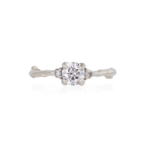 Solid White Gold Love is All - Classic Diamond Ring