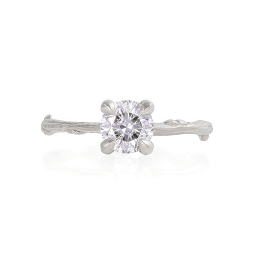 image of Solid White Gold Sparkle in the Wild - One Carat Classic Diamond Ring