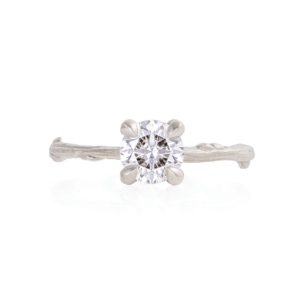 Solid White Gold Sparkle in the Wild - One Carat Lab Grown Diamond Ring