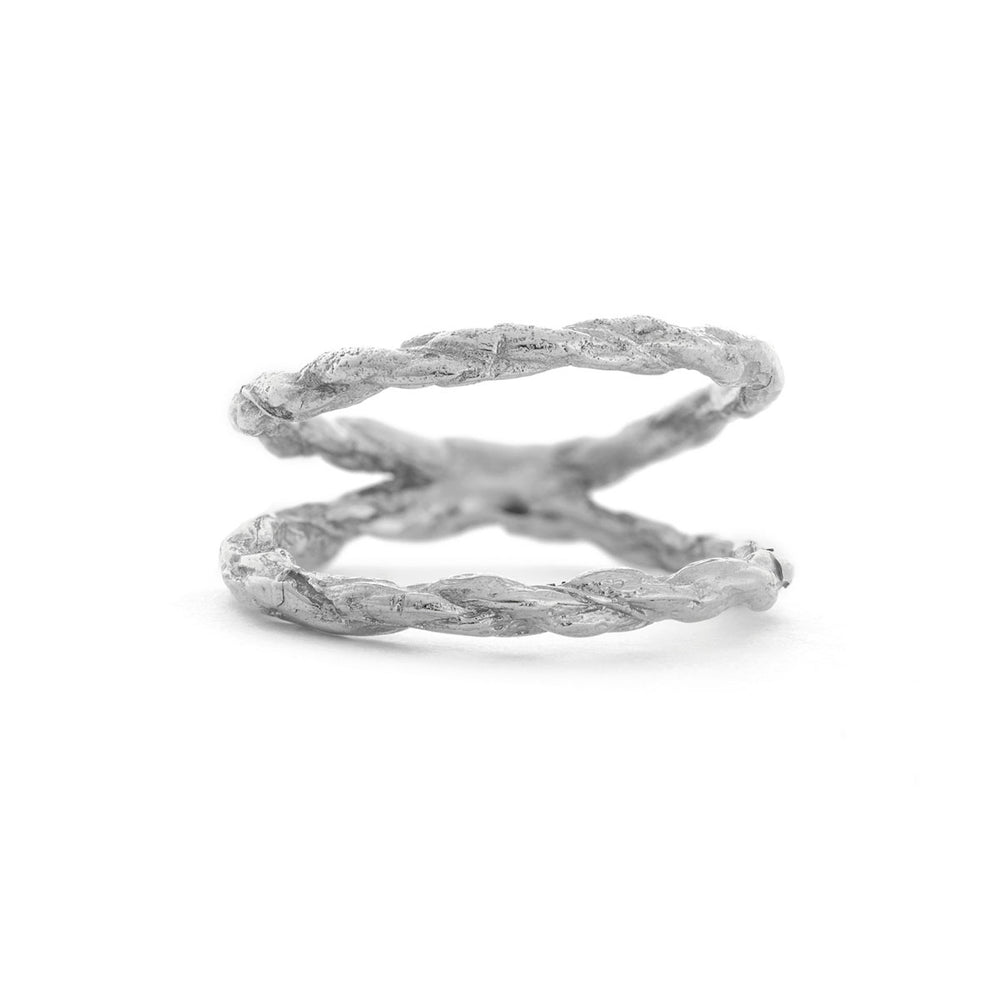 Chupi - Twice As Strong Together - Solid White Gold Double Twine Ring