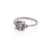 image-Solid White Gold You Me & Magic Ring Polished Band Grey Diamond One Carat