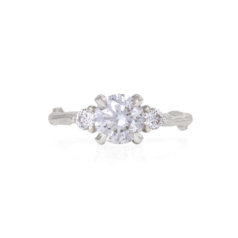 Solid White Gold You Me & Magic - One Carat Classic Diamond Ring