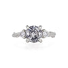 Solid White Gold You Me & Magic - Two Carat Grey Diamond & Classic Diamond Ring