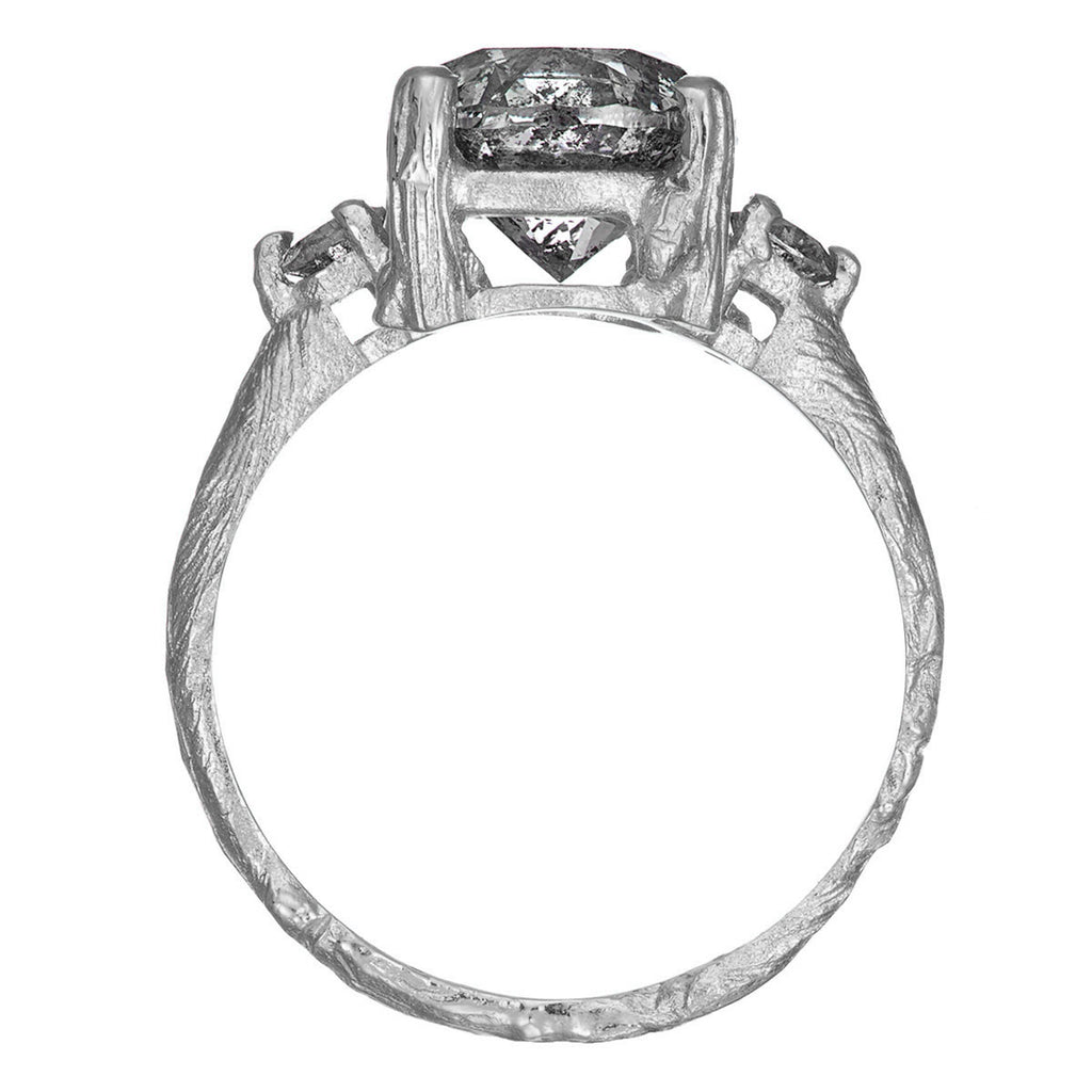 Solid White Gold You Me & Magic - Three Carat Grey Diamond Ring
