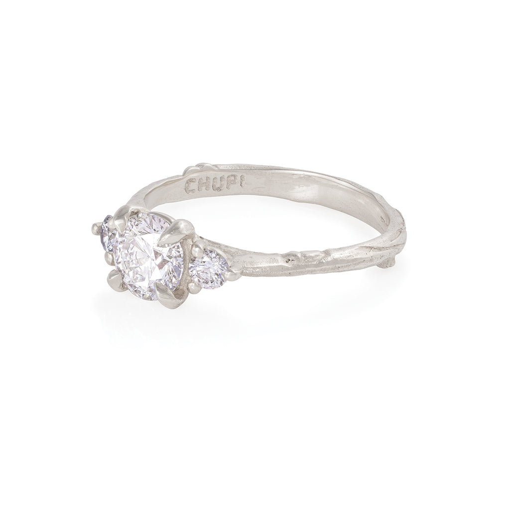Solid White Gold You Me & Magic - Classic Diamond Ring