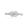 Solid White Gold You Me & Magic - 6.5mm Moissanite & Classic Diamond Ring