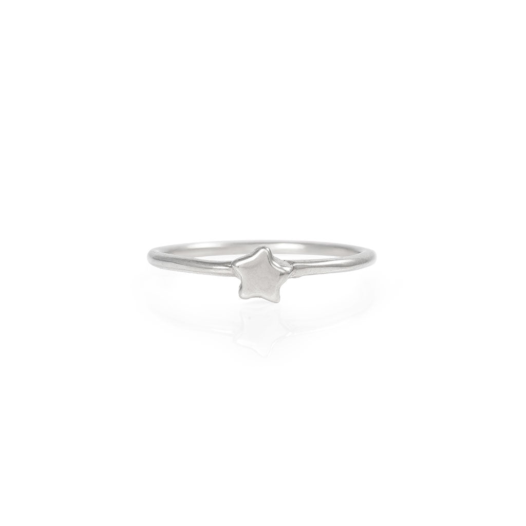 image-Solid White Gold You Are The Star Ring