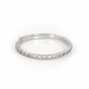 Edwardian Hawthorn - 14k White Gold Half Eternity Diamond Ring - Video cover
