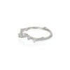 Chupi - Classic Diamond Wedding Band - Solid White Gold Written in the Stars Ring