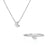 image-Solid White Gold You Are The Moon Necklace & Ring Gift Set